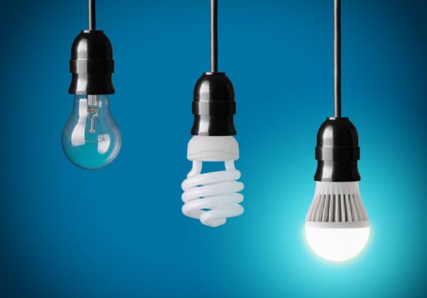 Diferentes tipos de lâmpada.