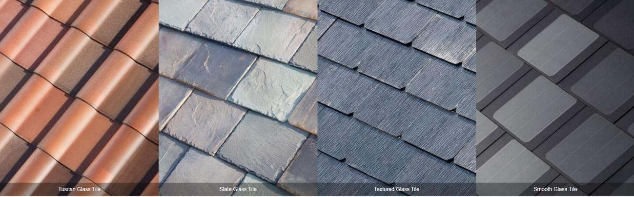 Tipos de telha da empresa de Elon Musk.