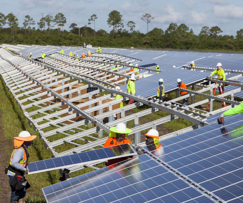 instalação de projeto fotovoltaico
