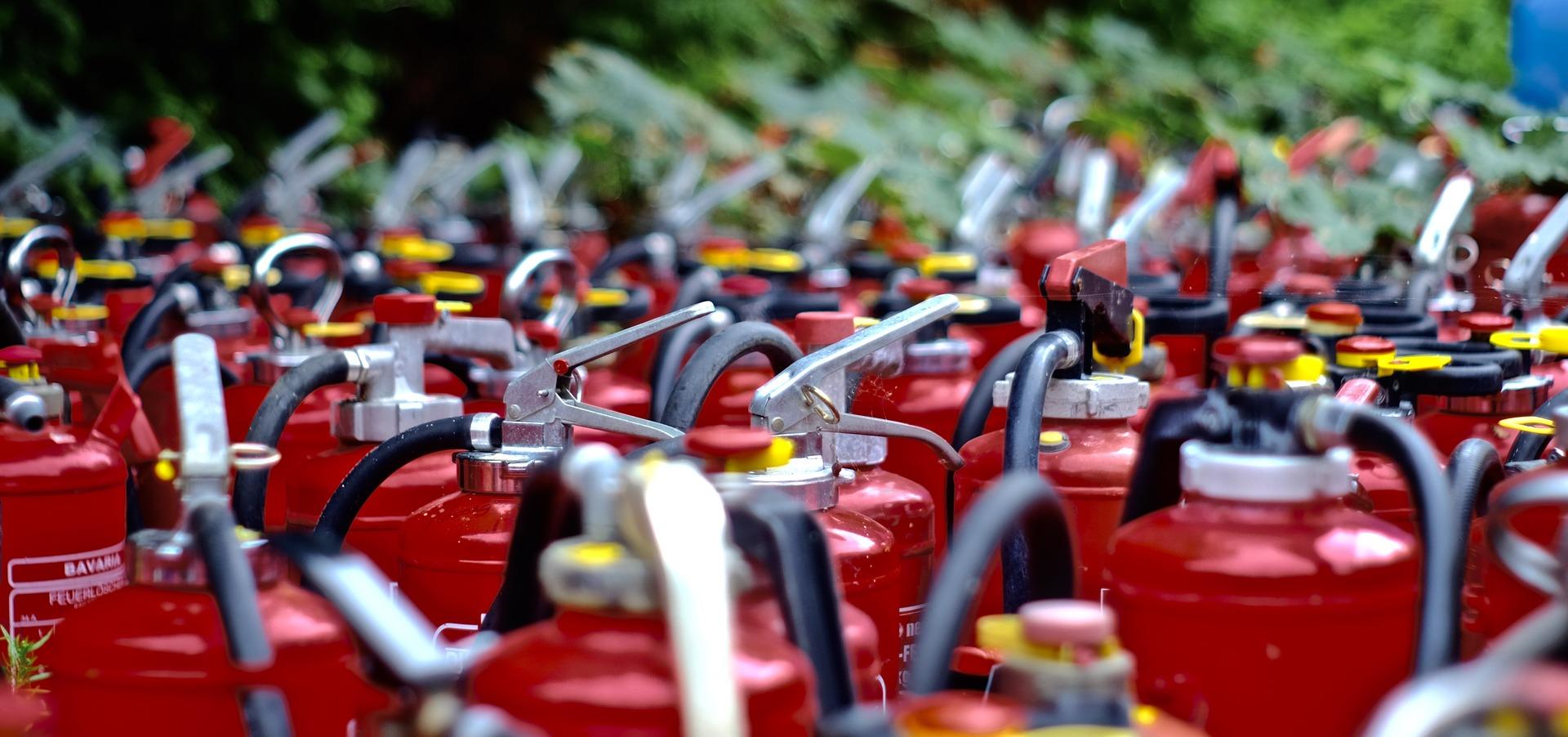 Medida de segurança de um plano contra incêndio e pânico