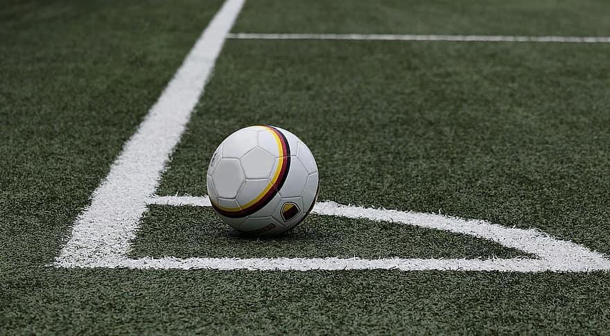 Foto de bola em iluminação de quadras esportivas